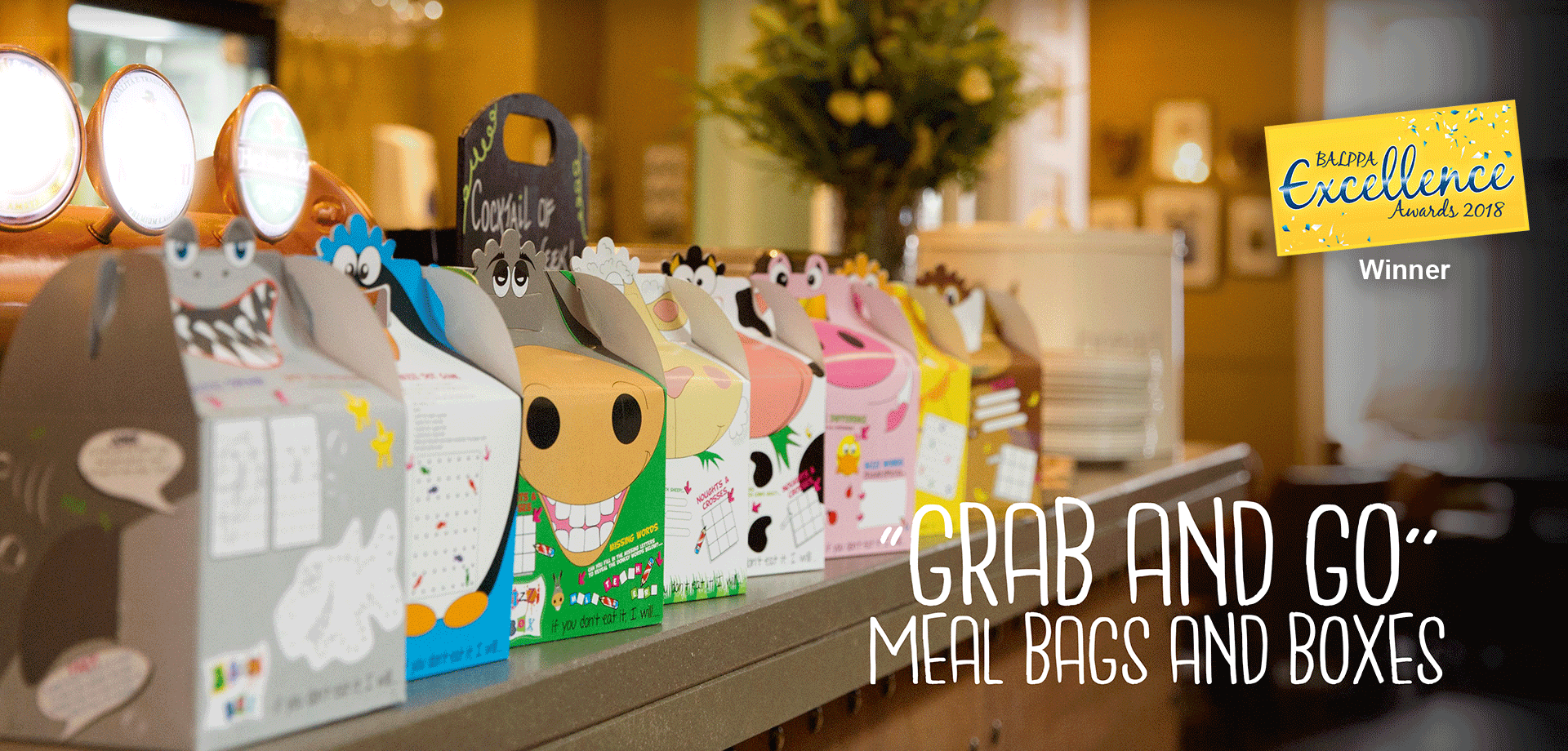 Grab and Go children's activity meal packaging