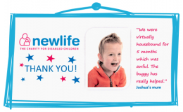 Our Newlife fundraising buys specialist buggy