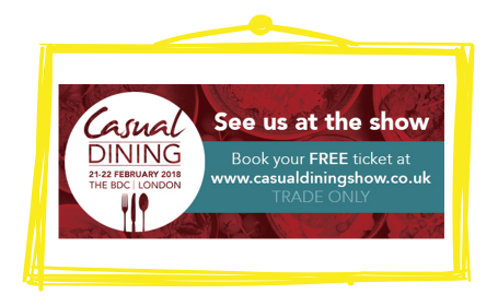 Crafti's is exhibiting at the Casual Dining Show