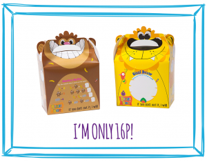 FOOD BOXES - MONKEY & LION NEW DESIGN!