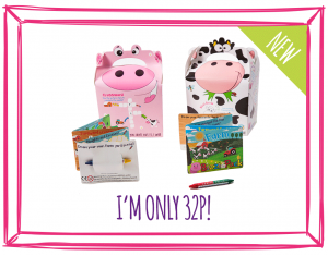 NEW! FOOD BOXES & MINI ACTIVITY KITS - FARM (COW & PIG)
