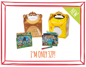 SAFARI BIZZI KIDS TAKEAWAY BOXES AND MINI ACTIVITY KITS