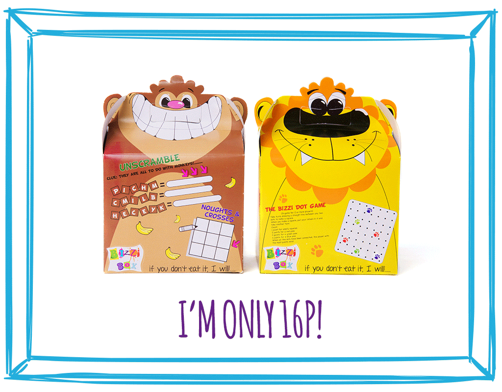 FOOD BOXES - MONKEY & LION