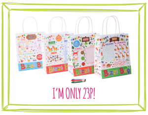 BIZZI KIDS TAKEAWAY BAGS