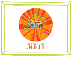 LET'S PARTY PAPER PLATES - Now in stock!